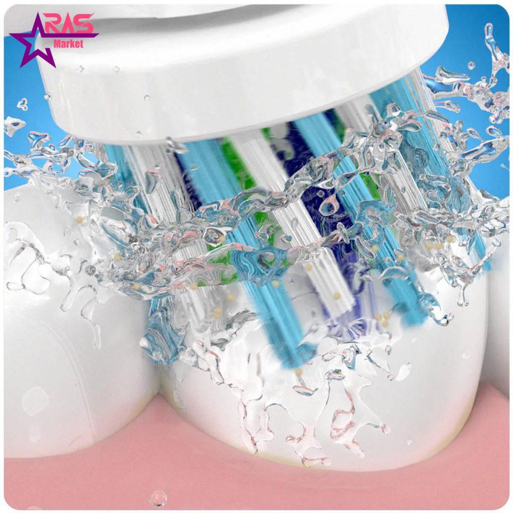 مسواک برقی اورال بی مدل Vitality 100 Cross Action رنگ آبی ، خرید اینترنتی محصولات شوینده و بهداشتی ، بهداشت دهان و دندان