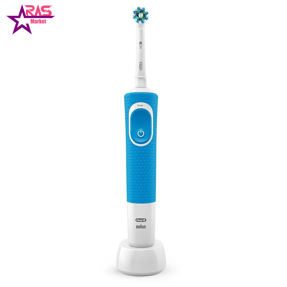 مسواک برقی اورال بی مدل Vitality 100 Cross Action رنگ آبی ، فروشگاه اینترنتی ارس مارکت ، بهداشت دهان و دندان