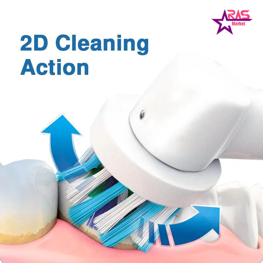 مسواک برقی اورال بی مدل Vitality 100 Cross Action رنگ آبی ، فروشگاه اینترنتی ارس مارکت ، مسواک oral-b