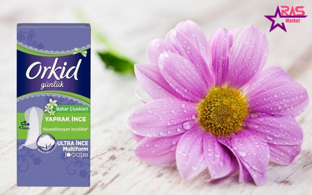 پد روزانه ارکید با رایحه گل های بهاری 20 عددی ، خرید اینترنتی محصولات شوینده و بهداشتی ، پد روزانه orkid