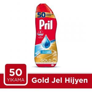 ژل ماشین ظرفشویی دو فاز پریل طلایی مدل Hijyen حجم 900 میلی لیتر ، فروشگاه اینترنتی ارس مارکت