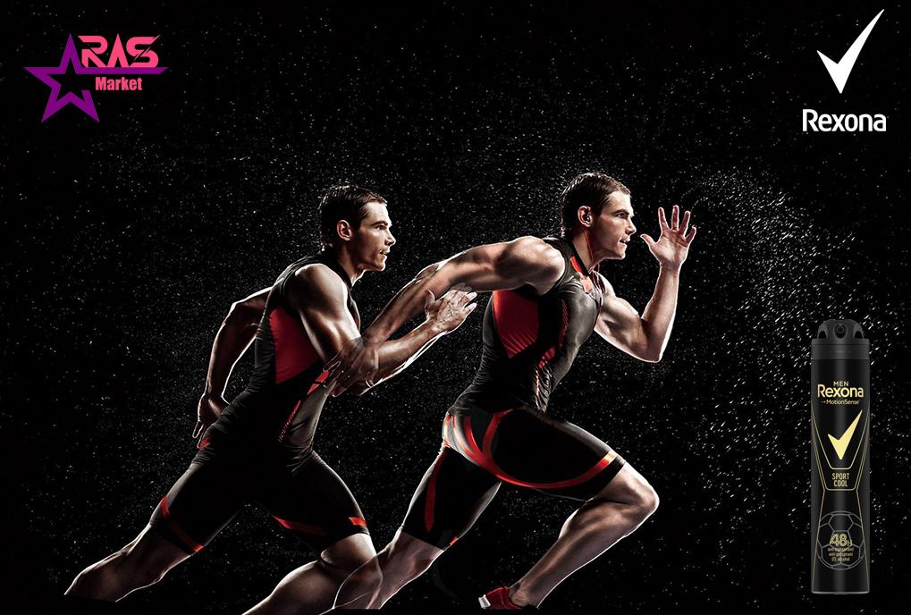 اسپری ضد تعریق رکسونا مدل Sport Cool حجم 200 میلی لیتر ، خرید اینترنتی محصولات شوینده و بهداشتی ، اسپری مردانه rexona