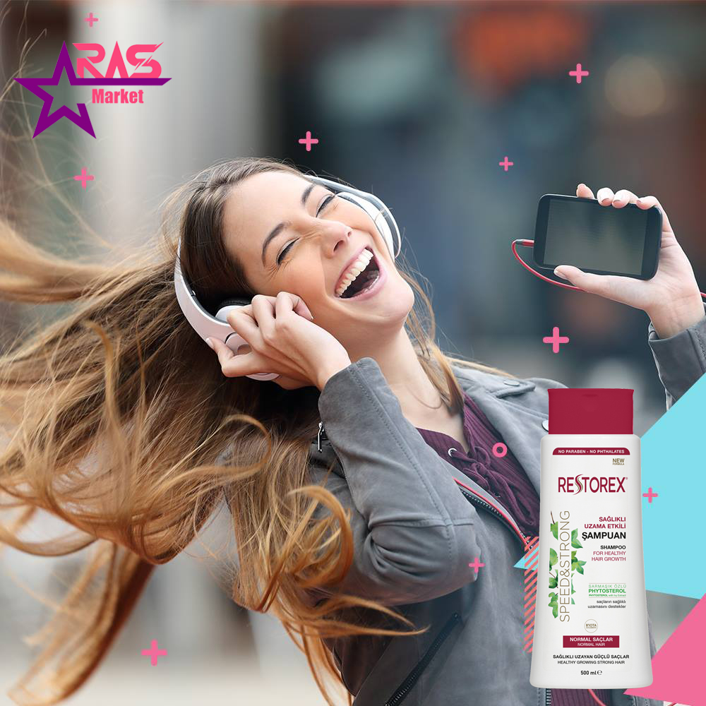 شامپو رستورکس مخصوص موهای معمولی 500 میلی لیتر ، خرید اینترنتی محصولات شوینده و بهداشتی ، ارس مارکت