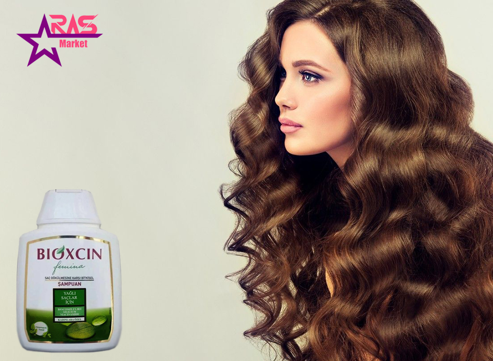 شامپو زنانه بیوکسین ضد ریزش مو مخصوص موهای چرب 300 میلی لیتر ، خرید اینترنتی محصولات شوینده و بهداشتی ، استحمام