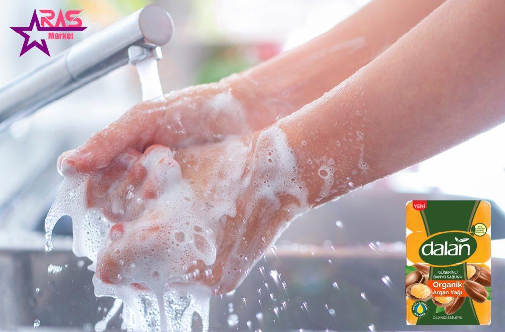 صابون دالان حاوی گلیسیرین و روغن آرگان 4 عددی ، خرید اینترنتی محصولات شوینده و بهداشتی ، استحمام ، صابون حمام دالان