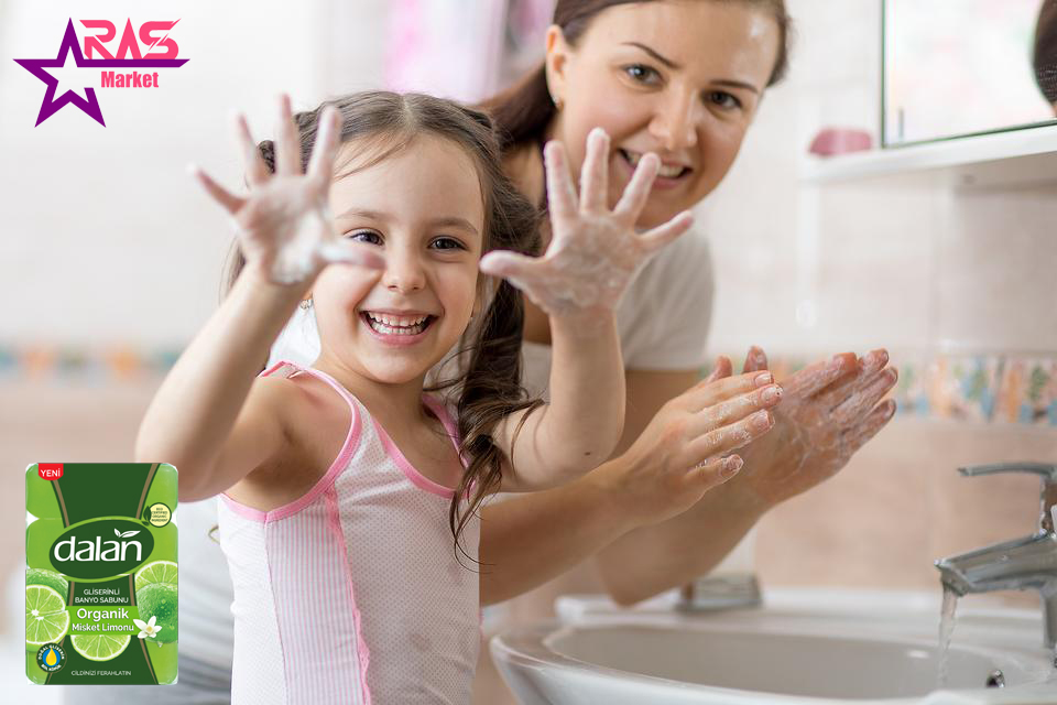 صابون دالان حاوی گلیسیرین و عصاره لیمو 4 عددی ، خرید اینترنتی محصولات شوینده و بهداشتی ، استحمام ، صابون حمام دالان