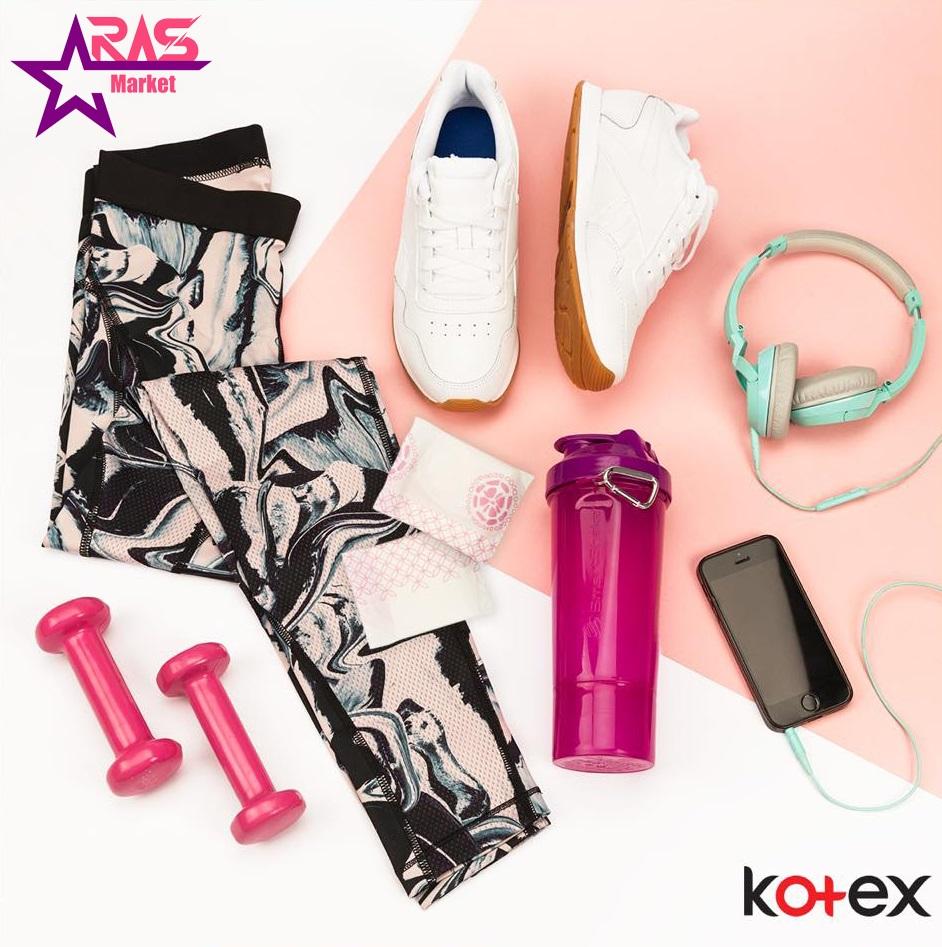 نوار بهداشتی کوتکس ACTIVE اندازه بزرگ 18 عددی ، خرید اینترنتی محصولات شوینده و بهداشتی ، نوار بهداشتی kotex ، پد بهداشتی کوتکس