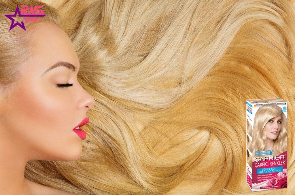 کیت رنگ مو گارنیر سری Çarpıcı Renkler شماره 110 ، خرید اینترنتی محصولات شوینده و بهداشتی ، بهداشت بانوان