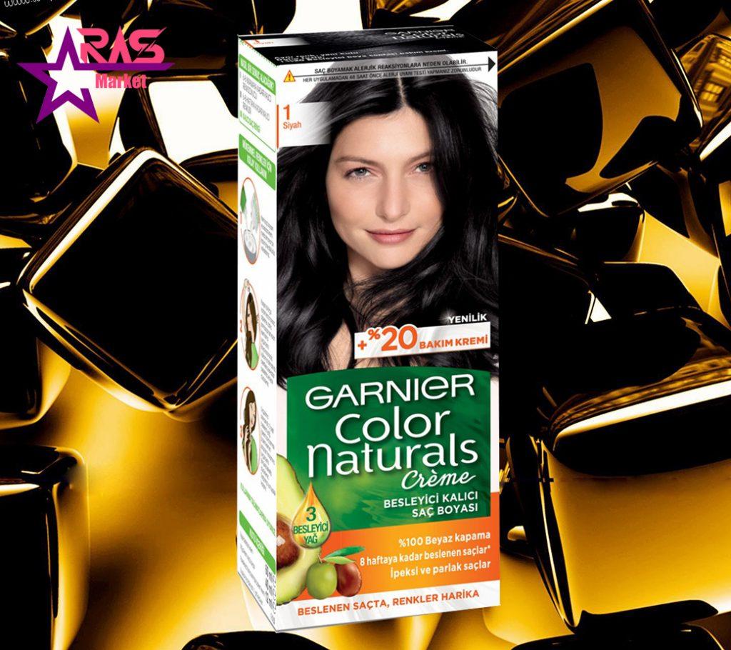 کیت رنگ مو گارنیر سری Color Naturals شماره 1 ، خرید اینترنتی محصولات شوینده و بهداشتی ، ارس مارکت