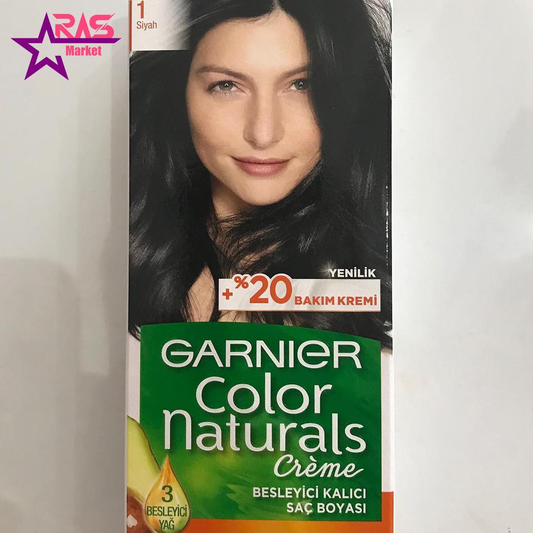 کیت رنگ مو گارنیر سری Color Naturals شماره 1 ، فروشگاه اینترنتی ارس مارکت ، بهداشت بانوان