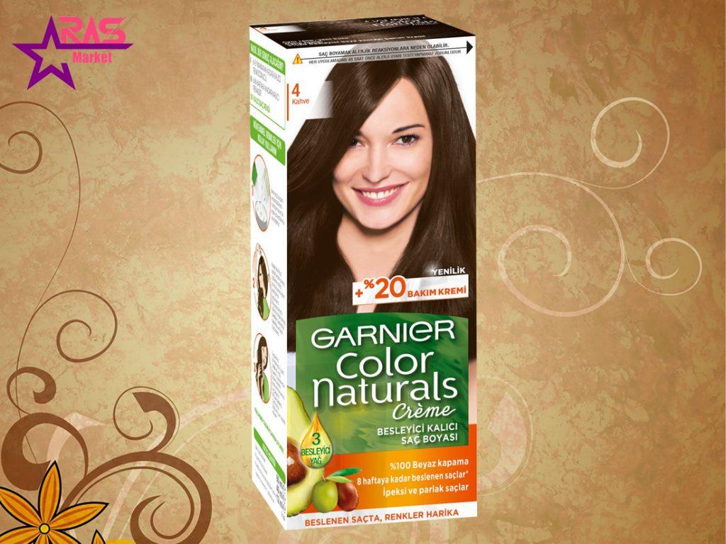 کیت رنگ مو گارنیر سری Color Naturals شماره 4 ، خرید اینترنتی محصولات شوینده و بهداشتی ، بهداشت بانوان
