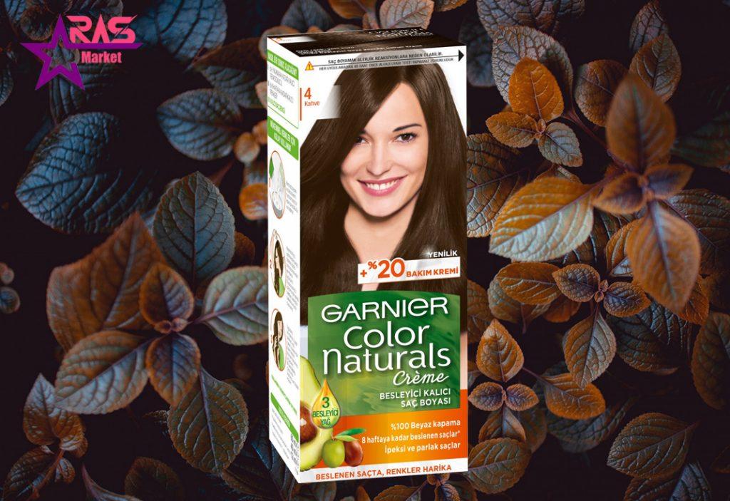 کیت رنگ مو گارنیر سری Color Naturals شماره 4 ، خرید اینترنتی محصولات شوینده و بهداشتی