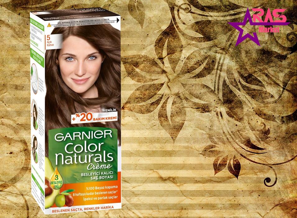 کیت رنگ مو گارنیر سری Color Naturals شماره 5 ، خرید اینترنتی محصولات شوینده و بهداشتی ، ارس مارکت ، garnier
