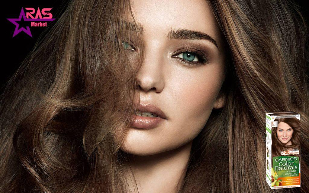 کیت رنگ مو گارنیر سری Color Naturals شماره 5 ، خرید اینترنتی محصولات شوینده و بهداشتی ، بهداشت بانوان