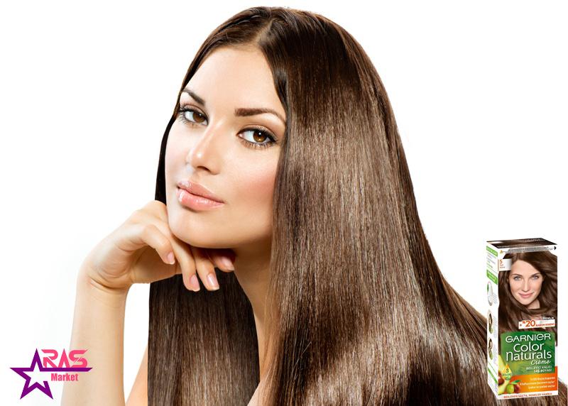 کیت رنگ مو گارنیر سری Color Naturals شماره 5 ، خرید اینترنتی محصولات شوینده و بهداشتی ، رنگ موی بانوان ، رنگ موی گارنیر