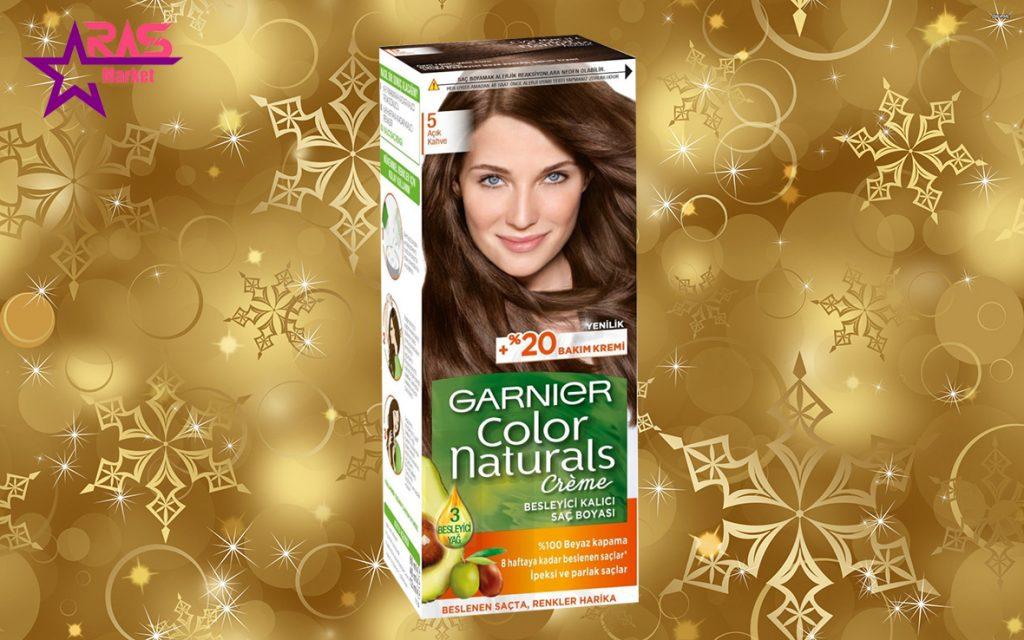کیت رنگ مو گارنیر سری Color Naturals شماره 5 ، خرید اینترنتی محصولات شوینده و بهداشتی
