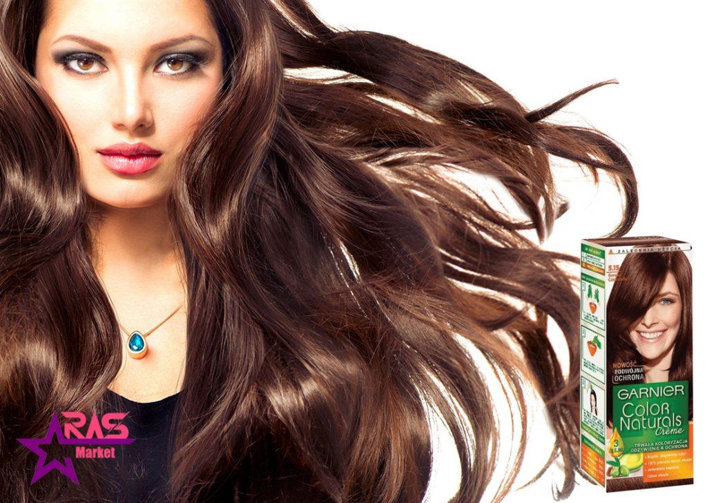 کیت رنگ مو گارنیر سری Color Naturals شماره 5.15 ، خرید اینترنتی محصولات شوینده و بهداشتی ، بهداشت بانوان ، رنگ موی گارنیر