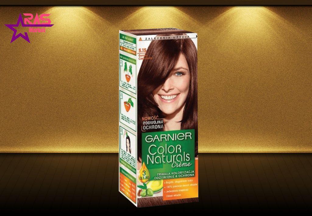 کیت رنگ مو گارنیر سری Color Naturals شماره 5.15 ، خرید اینترنتی محصولات شوینده و بهداشتی ، بهداشت بانوان ، garnier