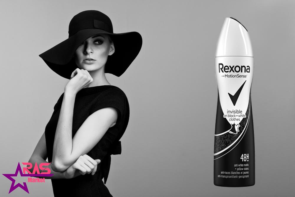 اسپری ضد تعریق رکسونا مدل Invisible On Black + White Clothes حجم 200 میلی لیتر ، خرید اینترنتی محصولات شوینده و بهداشتی ، ارس مارکت