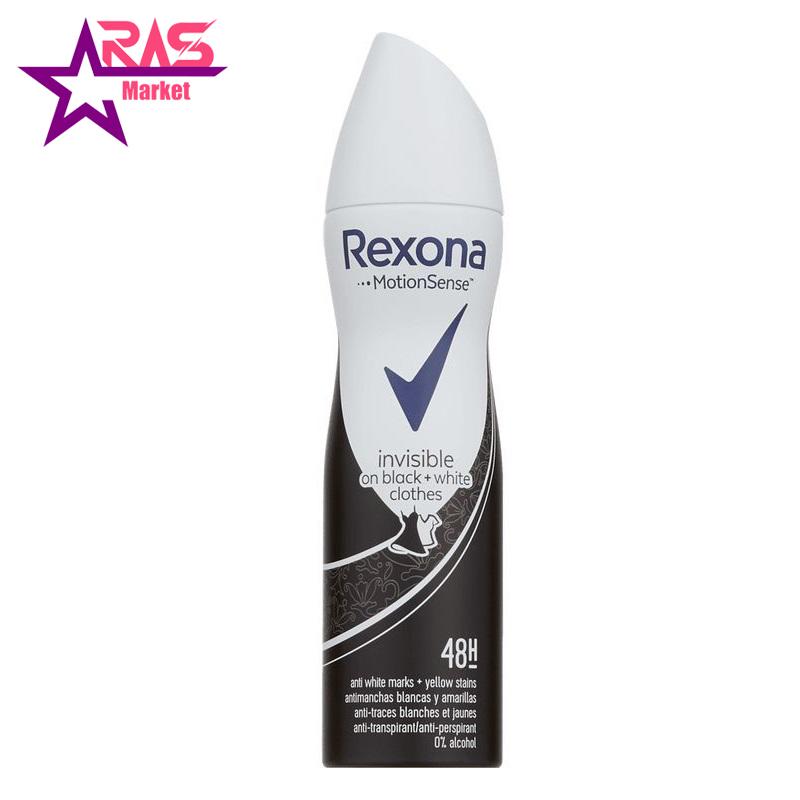 اسپری ضد تعریق رکسونا مدل Invisible On Black + White Clothes حجم 200 میلی لیتر ، فروشگاه اینترنتی ارس مارکت ، rexona spray