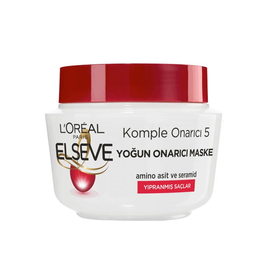 ماسک مو لورآل سری ELSEVE مدل Komple Onarıcı 5 مخصوص موهای آسیب دیده 300 میلی لیتر