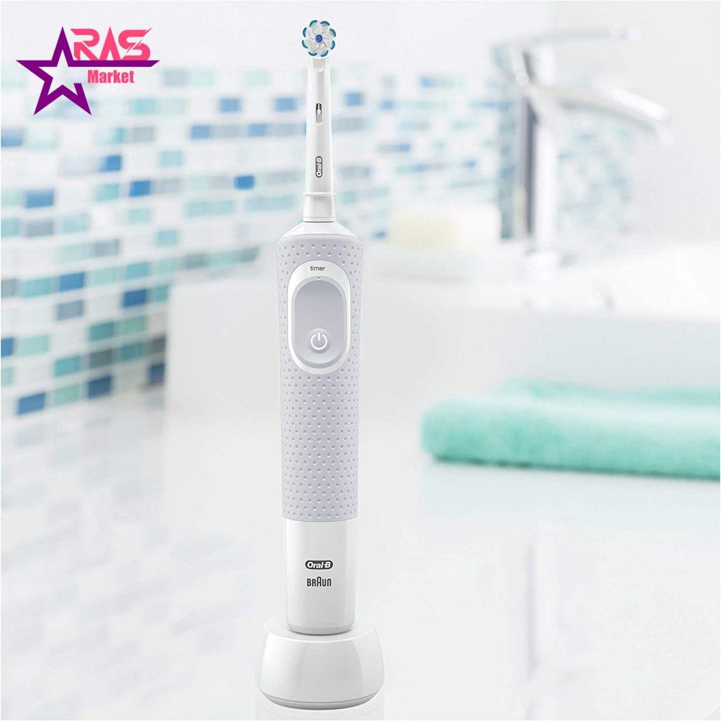 مسواک برقی اورال بی مدل Vitality 100 Sensi Ultra Thin رنگ سفید ، خرید اینترنتی محصولات شوینده و بهداشتی