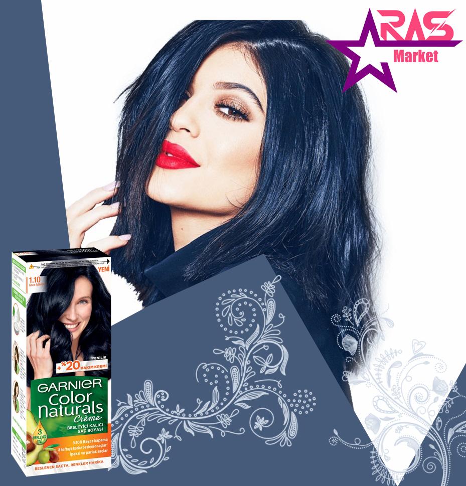 کیت رنگ مو گارنیر سری Color Naturals شماره 1.10 ، خرید اینترنتی محصولات شوینده و بهداشتی ، بهداشت بانوان ، garnier