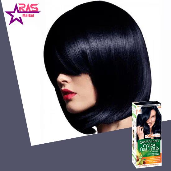 کیت رنگ مو گارنیر سری Color Naturals شماره 1.10 ، فروشگاه اینترنتی ارس مارکت ، رنگ مو زنانه گارنیر