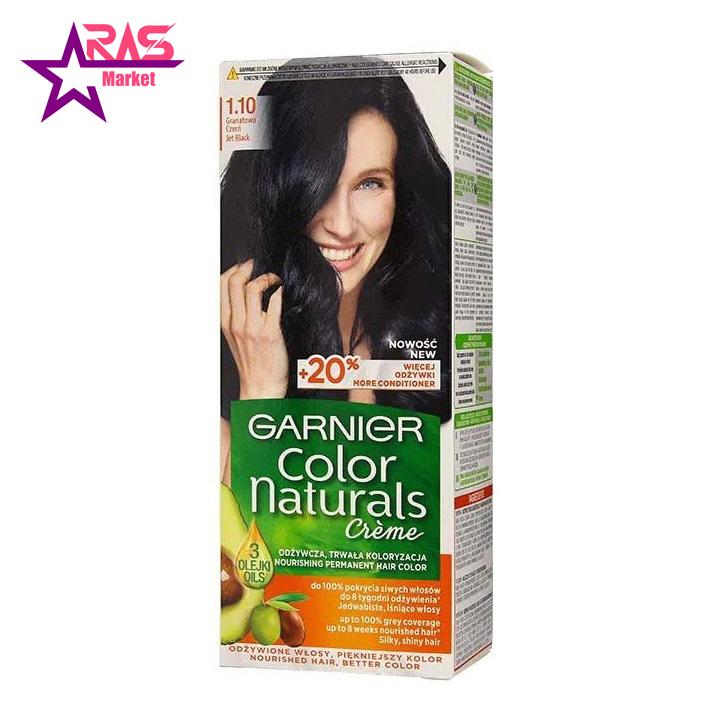 کیت رنگ مو گارنیر سری Color Naturals شماره 1.10 ، فروشگاه اینترنتی ارس مارکت ، garnier