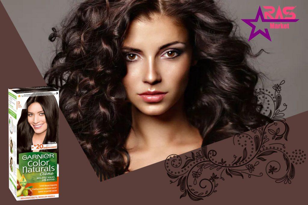کیت رنگ مو گارنیر سری Color Naturals شماره 3 ، فروشگاه اینترنتی ارس مارکت ، رنگ مو زنانه garnier