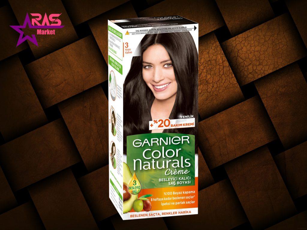 کیت رنگ مو گارنیر سری Color Naturals شماره 3 ، فروشگاه اینترنتی ارس مارکت