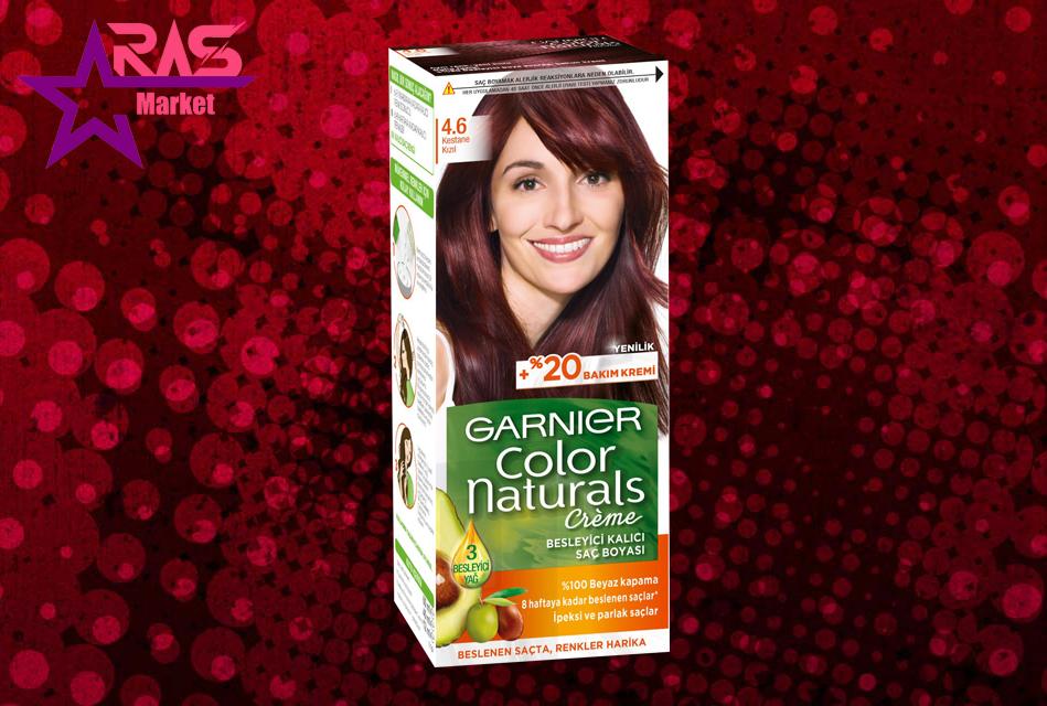 کیت رنگ مو گارنیر سری Color Naturals شماره 4.6 ، خرید اینترنتی محصولات شوینده و بهداشتی ، ارس مارکت