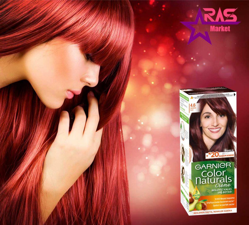 کیت رنگ مو گارنیر سری Color Naturals شماره 4.6 ، خرید اینترنتی محصولات شوینده و بهداشتی ، بهداشت بانوان