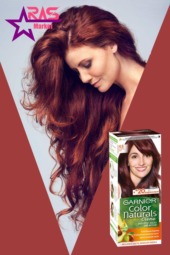 کیت رنگ مو گارنیر سری Color Naturals شماره 4.6 ، خرید اینترنتی محصولات شوینده و بهداشتی ، رنگ موی زنانه گارنیر ، garnier
