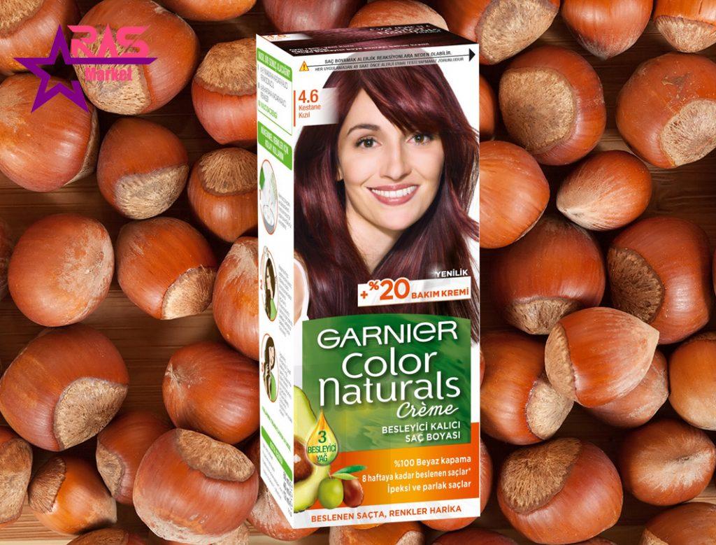 کیت رنگ مو گارنیر سری Color Naturals شماره 4.6 ، خرید اینترنتی محصولات شوینده و بهداشتی