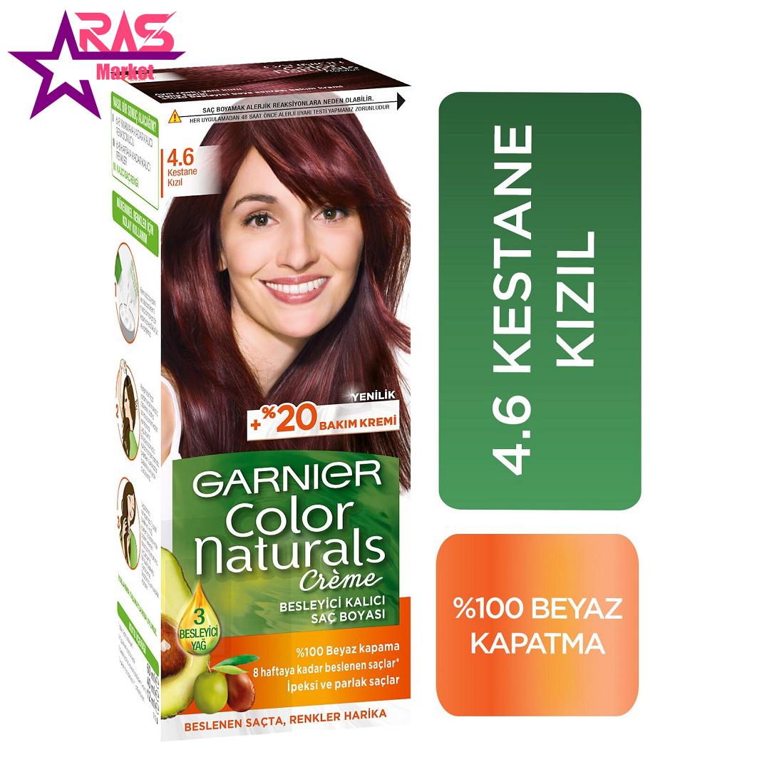کیت رنگ مو گارنیر سری Color Naturals شماره 4.6 ، فروشگاه اینترنتی ارس مارکت