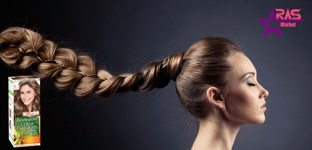 کیت رنگ مو گارنیر سری Color Naturals شماره 6 ، خرید اینترنتی محصولات شوینده و بهداشتی ، بهداشت بانوان ، ارس مارکت