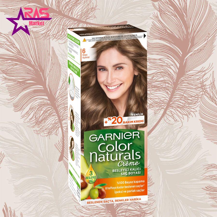 کیت رنگ مو گارنیر سری Color Naturals شماره 6 ، خرید اینترنتی محصولات شوینده و بهداشتی ، بهداشت بانوان ، garnier