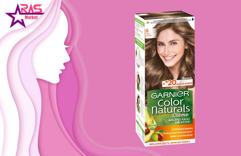کیت رنگ مو گارنیر سری Color Naturals شماره 6 ، خرید اینترنتی محصولات شوینده و بهداشتی ، بهداشت بانوان
