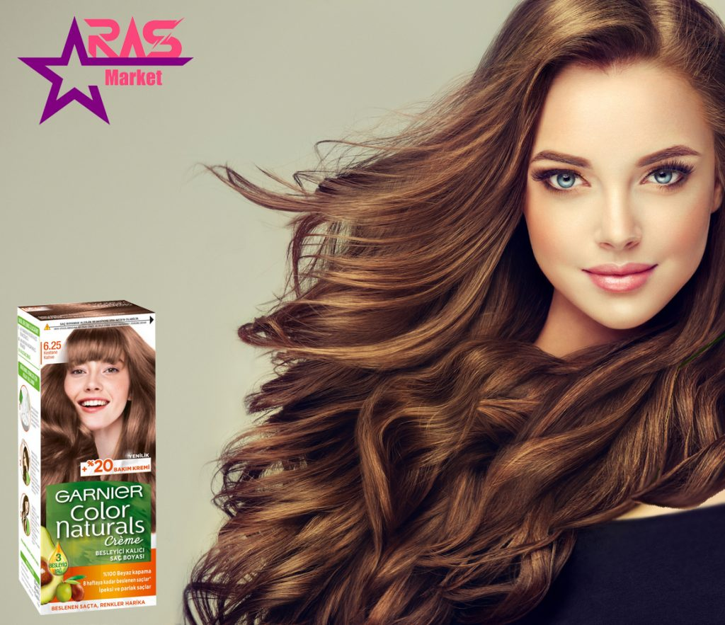 کیت رنگ مو گارنیر سری Color Naturals شماره 6.25 ، خرید اینترنتی محصولات شوینده و بهداشتی ، بهداشت بانوان ، ارس مارکت