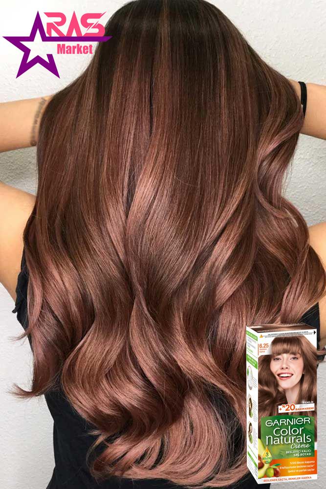 کیت رنگ مو گارنیر سری Color Naturals شماره 6.25 ، خرید اینترنتی محصولات شوینده و بهداشتی ، بهداشت بانوان ، کیت رنگ مو garnier