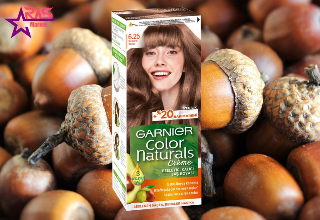 کیت رنگ مو گارنیر سری Color Naturals شماره 6.25 ، خرید اینترنتی محصولات شوینده و بهداشتی ، بهداشت بانوان