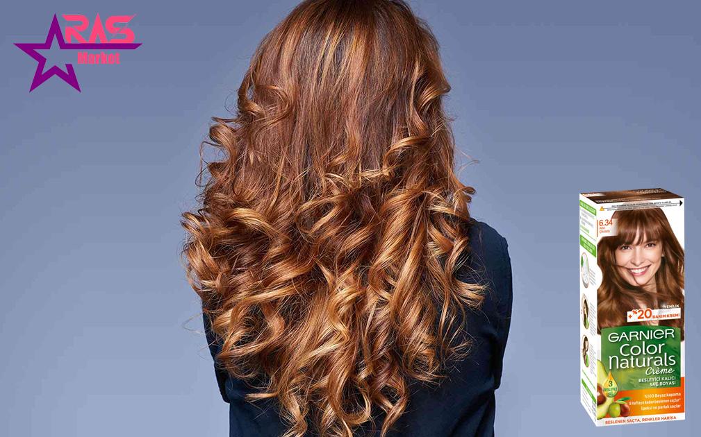 کیت رنگ مو گارنیر سری Color Naturals شماره 6.34 ، خرید اینترنتی محصولات شوینده و بهداشتی ، بهداشت بانوان ، ارس مارکت