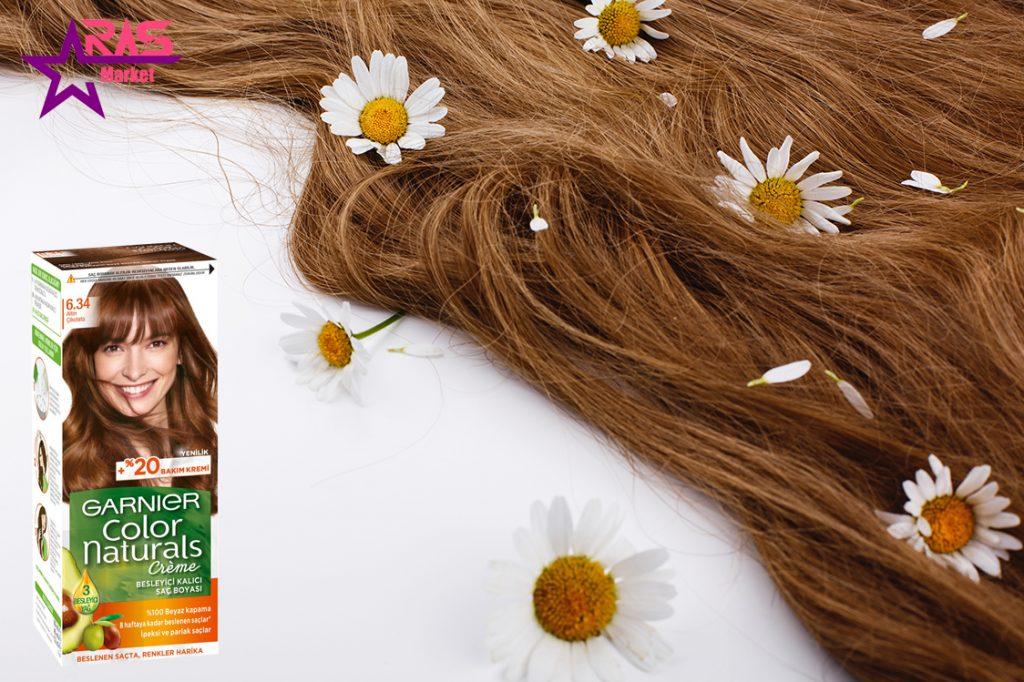 کیت رنگ مو گارنیر سری Color Naturals شماره 6.34 ، خرید اینترنتی محصولات شوینده و بهداشتی ، بهداشت بانوان ، رنگ موی گارنیر