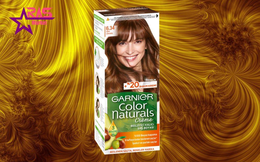 کیت رنگ مو گارنیر سری Color Naturals شماره 6.34 ، خرید اینترنتی محصولات شوینده و بهداشتی ، بهداشت بانوان ، garnier