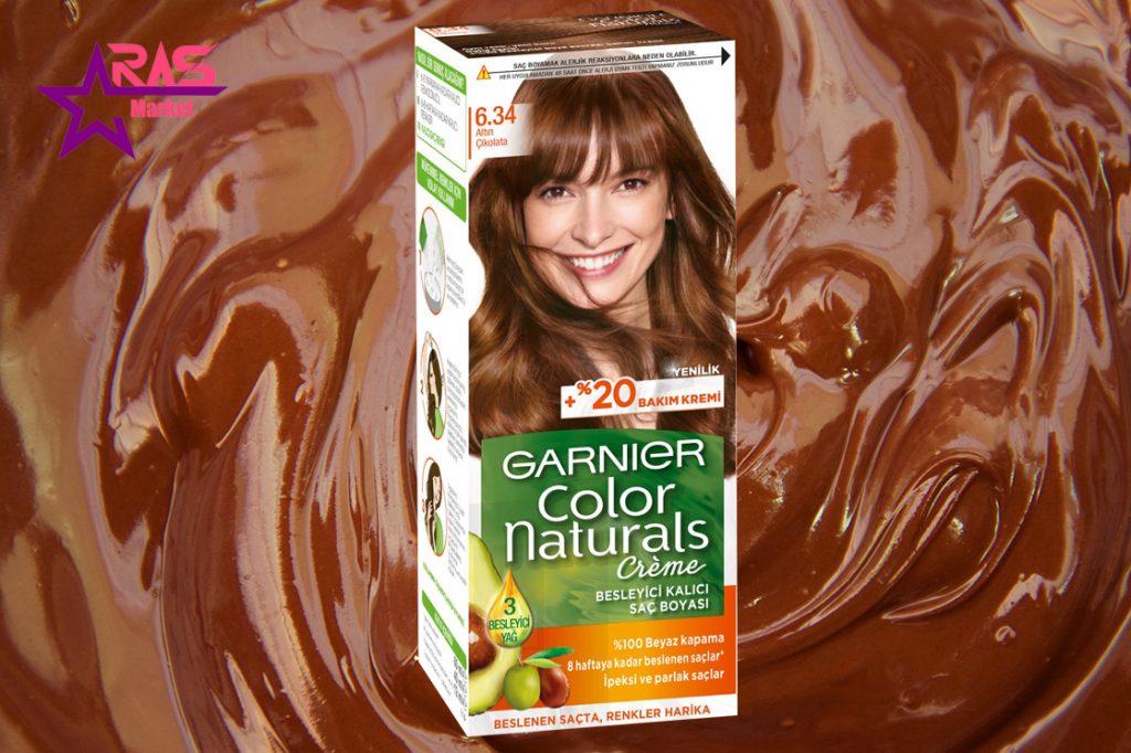 کیت رنگ مو گارنیر سری Color Naturals شماره 6.34 ، خرید اینترنتی محصولات شوینده و بهداشتی ، بهداشت بانوان