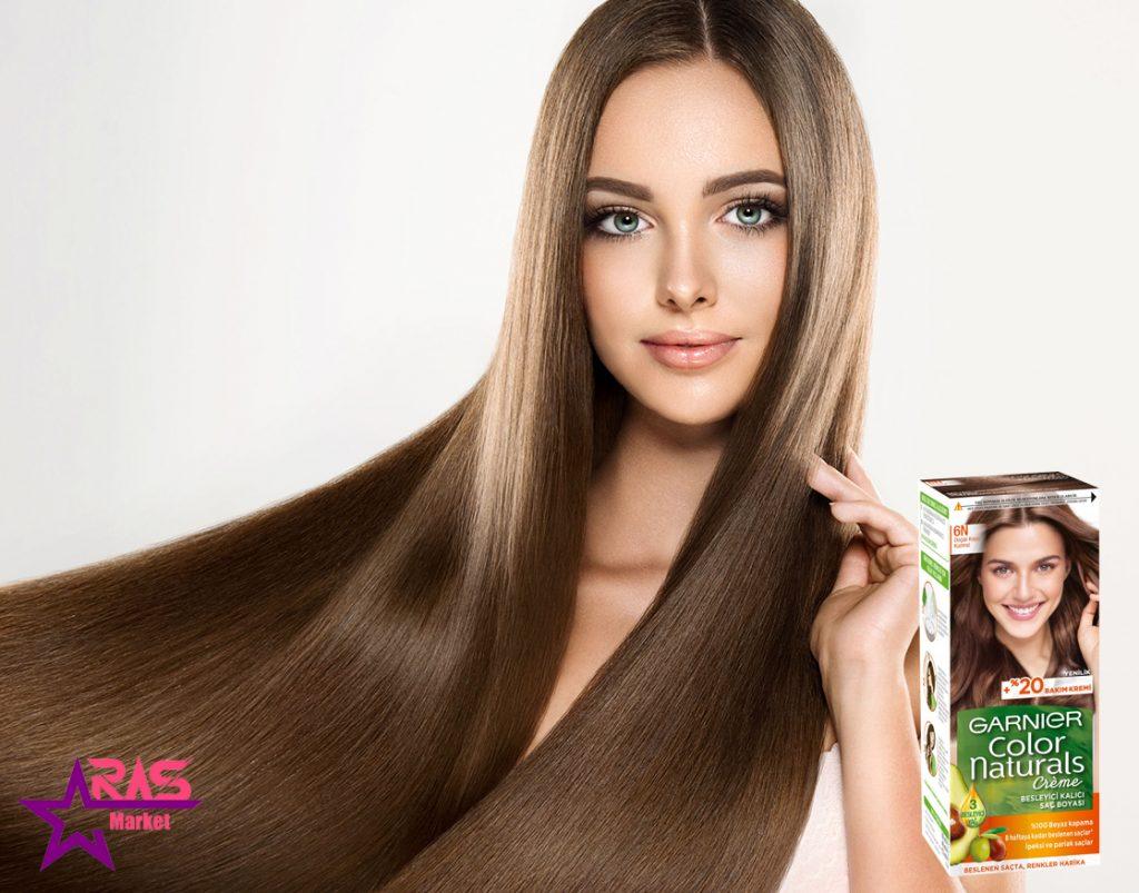 کیت رنگ مو گارنیر سری Color Naturals شماره 6N ، خرید اینترنتی محصولات شوینده و بهداشتی ، بهداشت بانوان ، ارس مارکت
