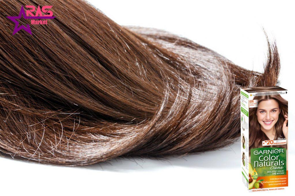 کیت رنگ مو گارنیر سری Color Naturals شماره 6N ، خرید اینترنتی محصولات شوینده و بهداشتی ، بهداشت بانوان ، garnier