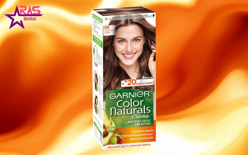 کیت رنگ مو گارنیر سری Color Naturals شماره 6N ، خرید اینترنتی محصولات شوینده و بهداشتی ، بهداشت بانوان