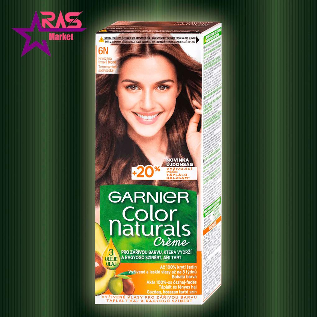 کیت رنگ مو گارنیر سری Color Naturals شماره 6N ، فروشگاه اینترنتی ارس مارکت ، بهداشت بانوان